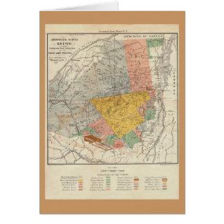 Bosquejo de la encuesta sobre Adirondack - mapa de Felicitacion