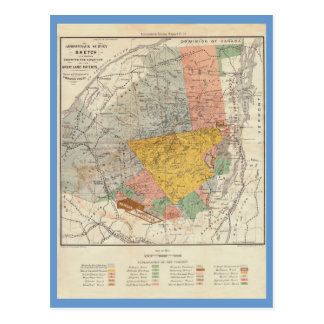 Bosquejo de la encuesta sobre Adirondack - mapa de Tarjeta Postal