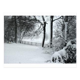 bosquejo de la escena de la nieve postales