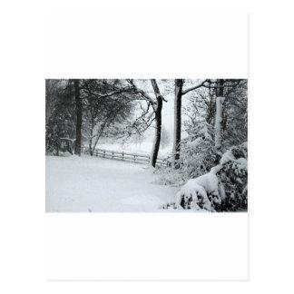 bosquejo de la escena de la nieve tarjeta postal