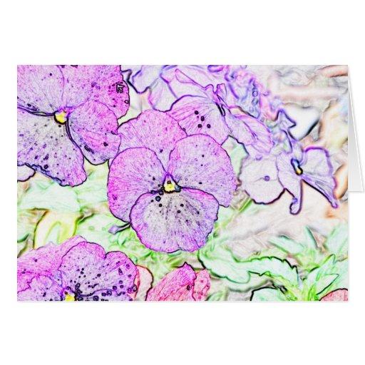 Bosquejo de la flor tarjeta pequeña