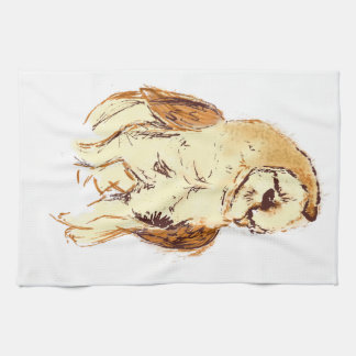 Bosquejo de la lechuza común toalla