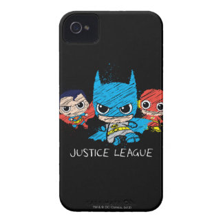 Bosquejo de la liga de justicia de Chibi Case-Mate iPhone 4 Cárcasas