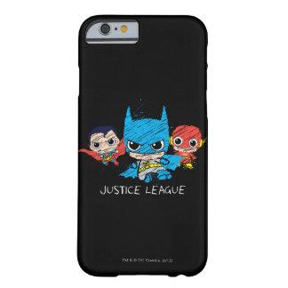 Bosquejo de la liga de justicia de Chibi Funda De iPhone 6 Barely There