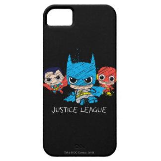 Bosquejo de la liga de justicia de Chibi iPhone 5 Protector