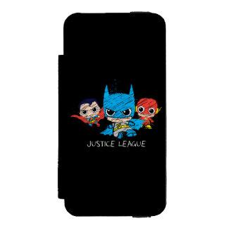 Bosquejo de la liga de justicia de Chibi Funda Cartera Para iPhone 5 Watson