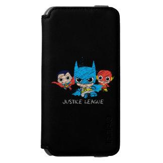 Bosquejo de la liga de justicia de Chibi Funda Cartera Para iPhone 6 Watson