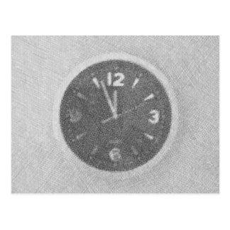 Bosquejo de la lona del reloj de pared en la postales