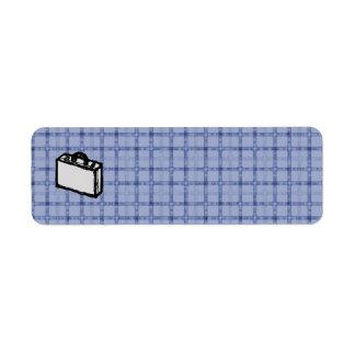 Bosquejo de la maleta de la cartera o del viaje de etiquetas de remite