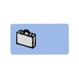 Bosquejo de la maleta de la cartera o del viaje de etiqueta de dirección