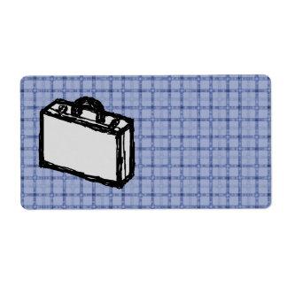 Bosquejo de la maleta de la cartera o del viaje de etiquetas de envío