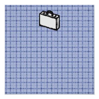 """Bosquejo de la maleta de la cartera o del viaje de invitación 5.25"""" x 5.25"""""""
