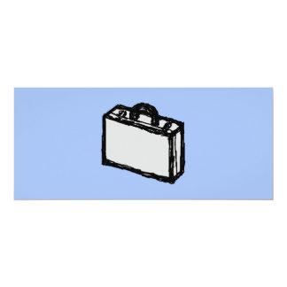 """Bosquejo de la maleta de la cartera o del viaje de invitación 4"""" x 9.25"""""""