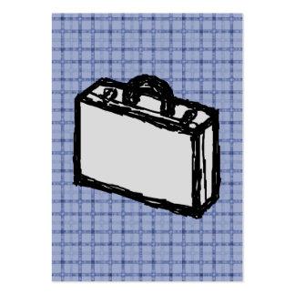 Bosquejo de la maleta de la cartera o del viaje de tarjetas de visita grandes