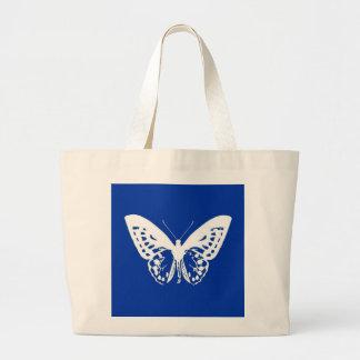 Bosquejo de la mariposa, azul de cobalto y blanco bolsas