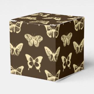 Bosquejo de la mariposa, beige en marrón paquetes de regalo
