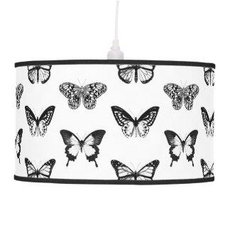 Bosquejo de la mariposa, blanco y negro