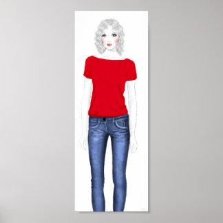Bosquejo de la moda - dril de algodón impresiones
