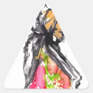 bosquejo de la moda pegatina triangular