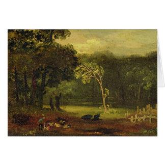 Bosquejo de la naturaleza en el parque de Sion, 18 Tarjeta De Felicitación