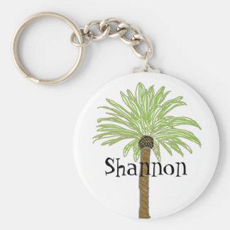 Bosquejo de la palmera llavero redondo tipo pin