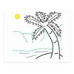 Bosquejo de la palmera postal