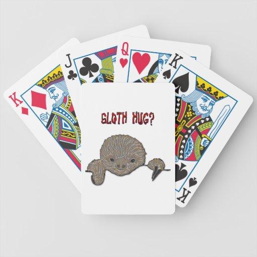 Bosquejo de la pereza del bebé del abrazo de la pe baraja cartas de poker