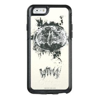 Bosquejo de la salpicadura del Grunge de Batman Funda Otterbox Para iPhone 6/6s