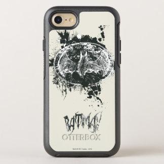 Bosquejo de la salpicadura del Grunge de Batman Funda OtterBox Symmetry Para iPhone 7