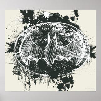 Bosquejo de la salpicadura del Grunge de Batman Poster