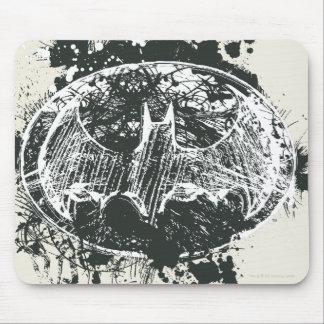 Bosquejo de la salpicadura del Grunge de Batman Tapetes De Ratón