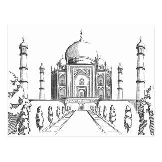 Bosquejo de la señal de la India - el Taj Mahal Tarjeta Postal