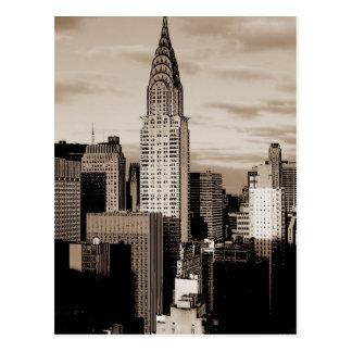 Bosquejo de la tinta de New York City de la sepia Postales