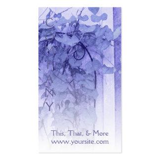 Bosquejo de la violeta del enrejado de la tarjetas de visita