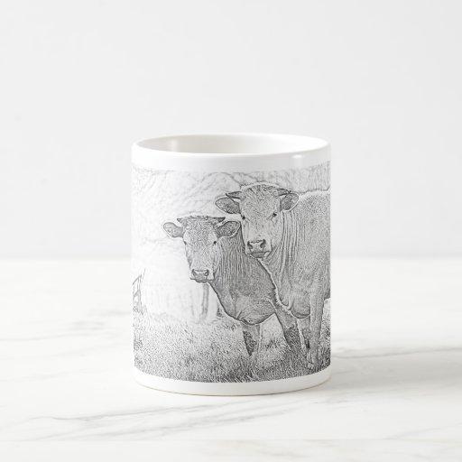 Bosquejo de las vacas tazas