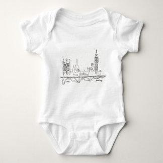 Bosquejo de Londres Body Para Bebé