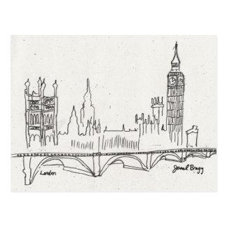Bosquejo de Londres Tarjeta Postal