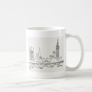 Bosquejo de Londres Taza De Café