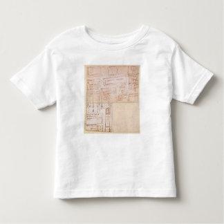 Bosquejo de los bloques del mármol para las camisetas