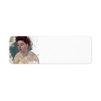 Bosquejo de Maria Cassatt- de Antonieta (no.1) Etiquetas De Remite