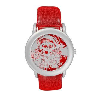 Bosquejo de Papá Noel del vintage Reloj De Mano