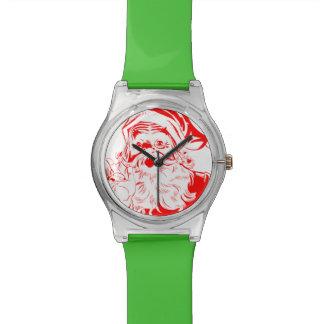 Bosquejo de Papá Noel del vintage Relojes De Mano