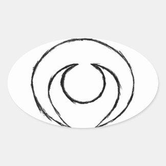 Bosquejo de Pergus Corp Pegatina Ovalada