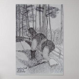 Bosquejo de Squatchdog Póster