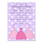Bosquejo de tres vestidos invitación 12,7 x 17,8 cm