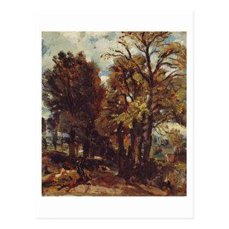 Bosquejo de un carril en Bergholt del este, c.1810 Tarjetas Postales