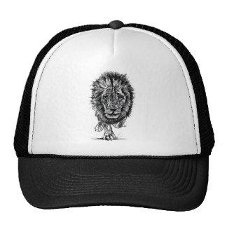 Bosquejo de un león africano masculino grande gorro