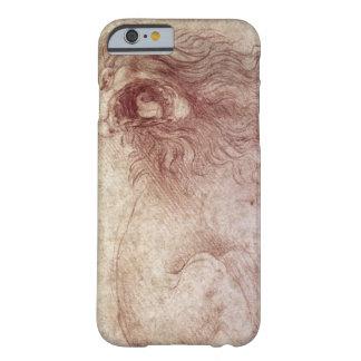 Bosquejo de un león del rugido (tiza roja en el funda barely there iPhone 6