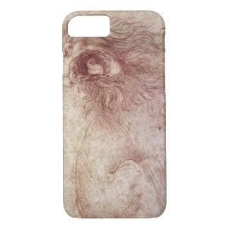 Bosquejo de un león del rugido (tiza roja en el funda iPhone 7