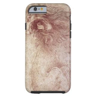 Bosquejo de un león del rugido (tiza roja en el funda resistente iPhone 6